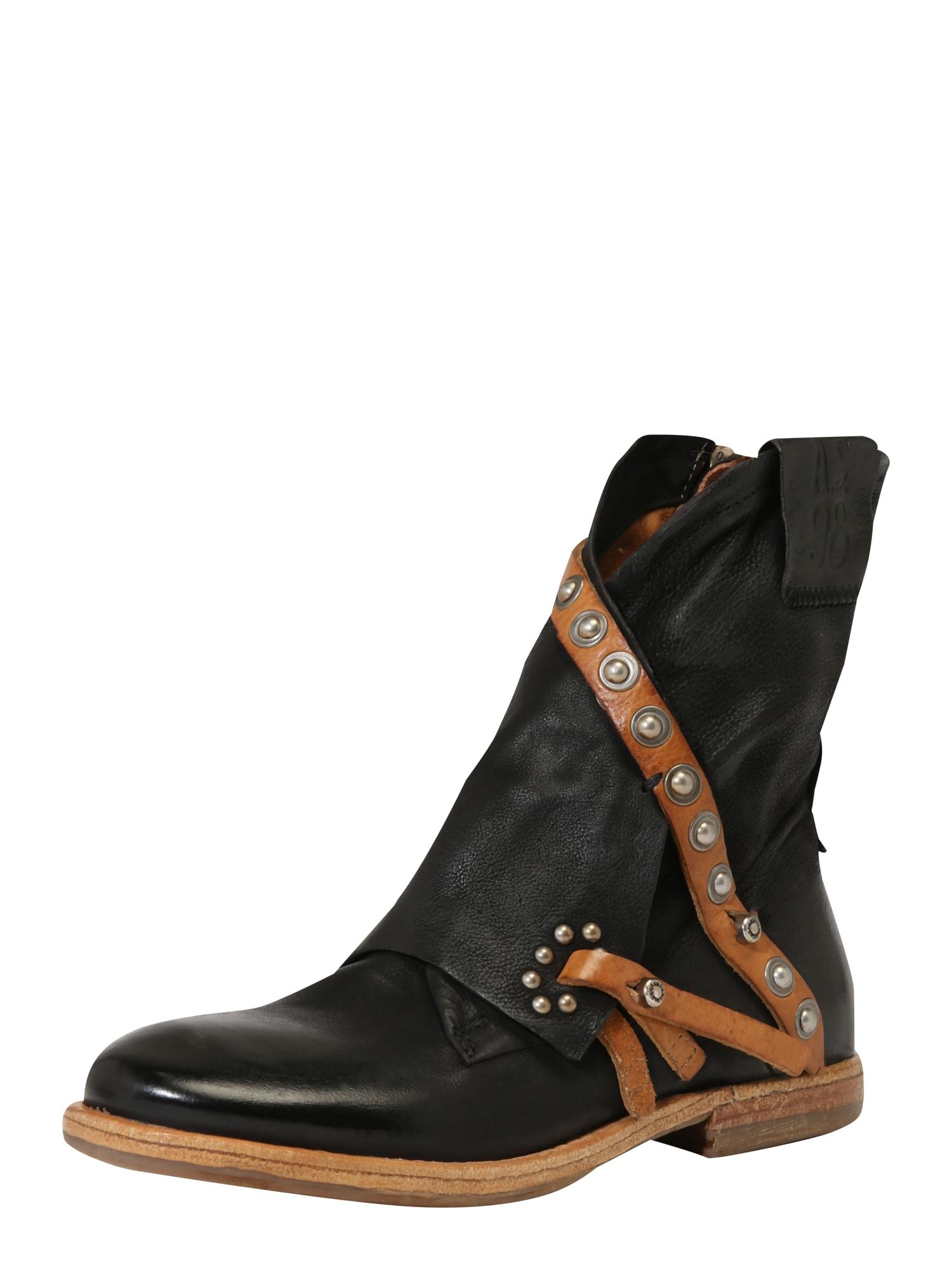 A.S.98 Auliniai batai 'ZEPORT' juoda / ruda