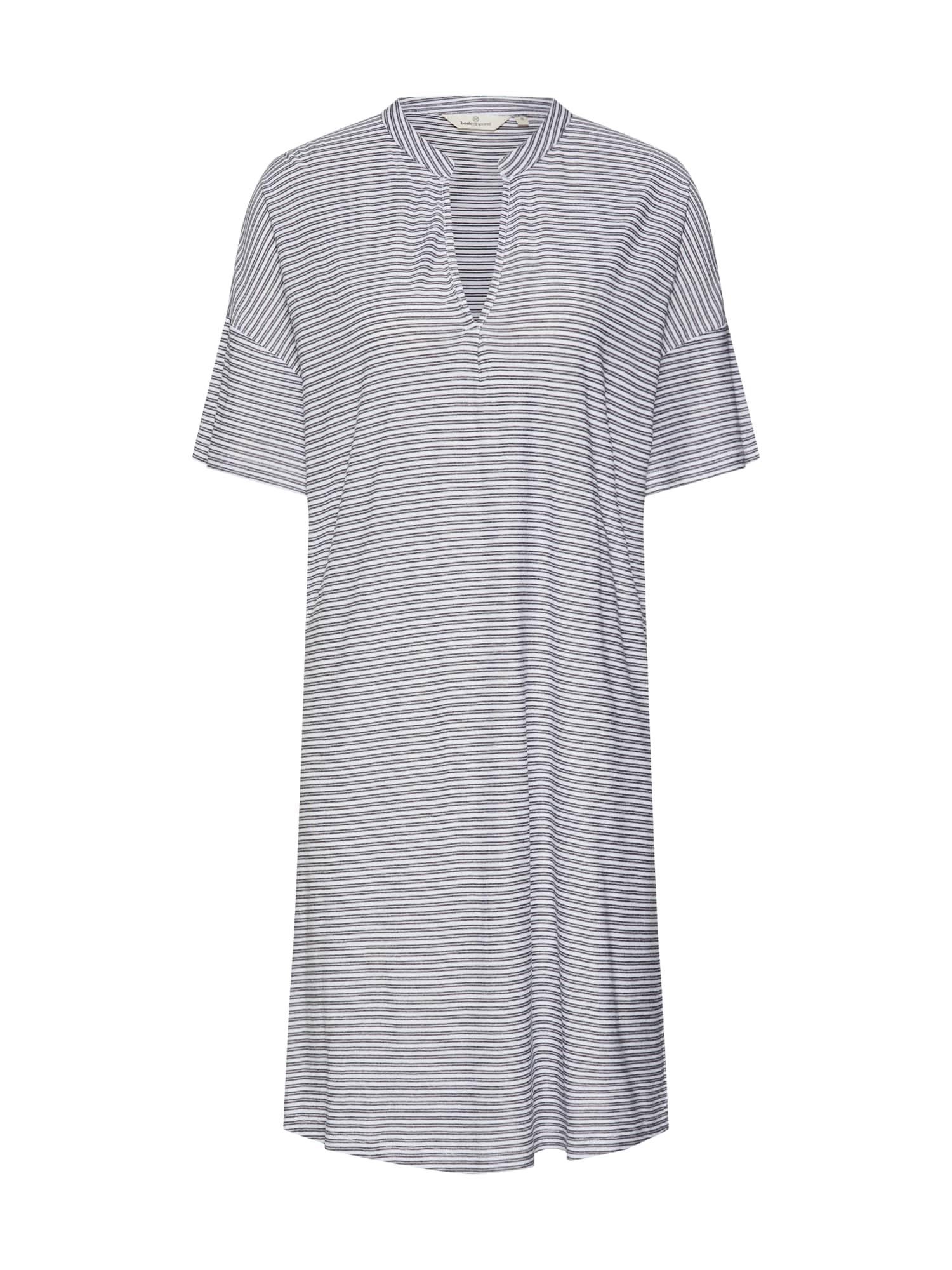 Košilové šaty Kristina černá bílá Basic Apparel