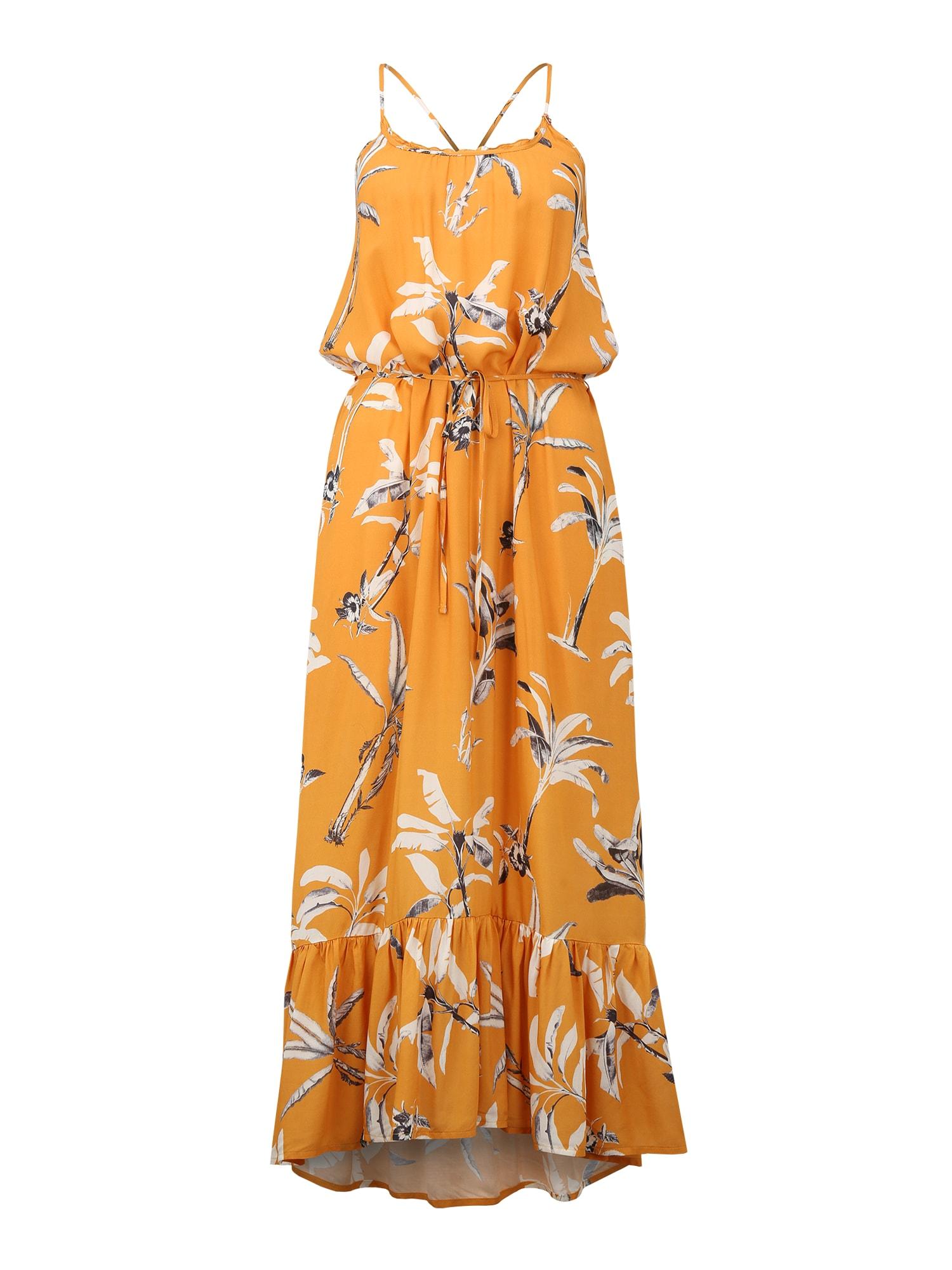 BRUNOTTI Paplūdimio suknelė 'Cia' balta / pilka / geltona
