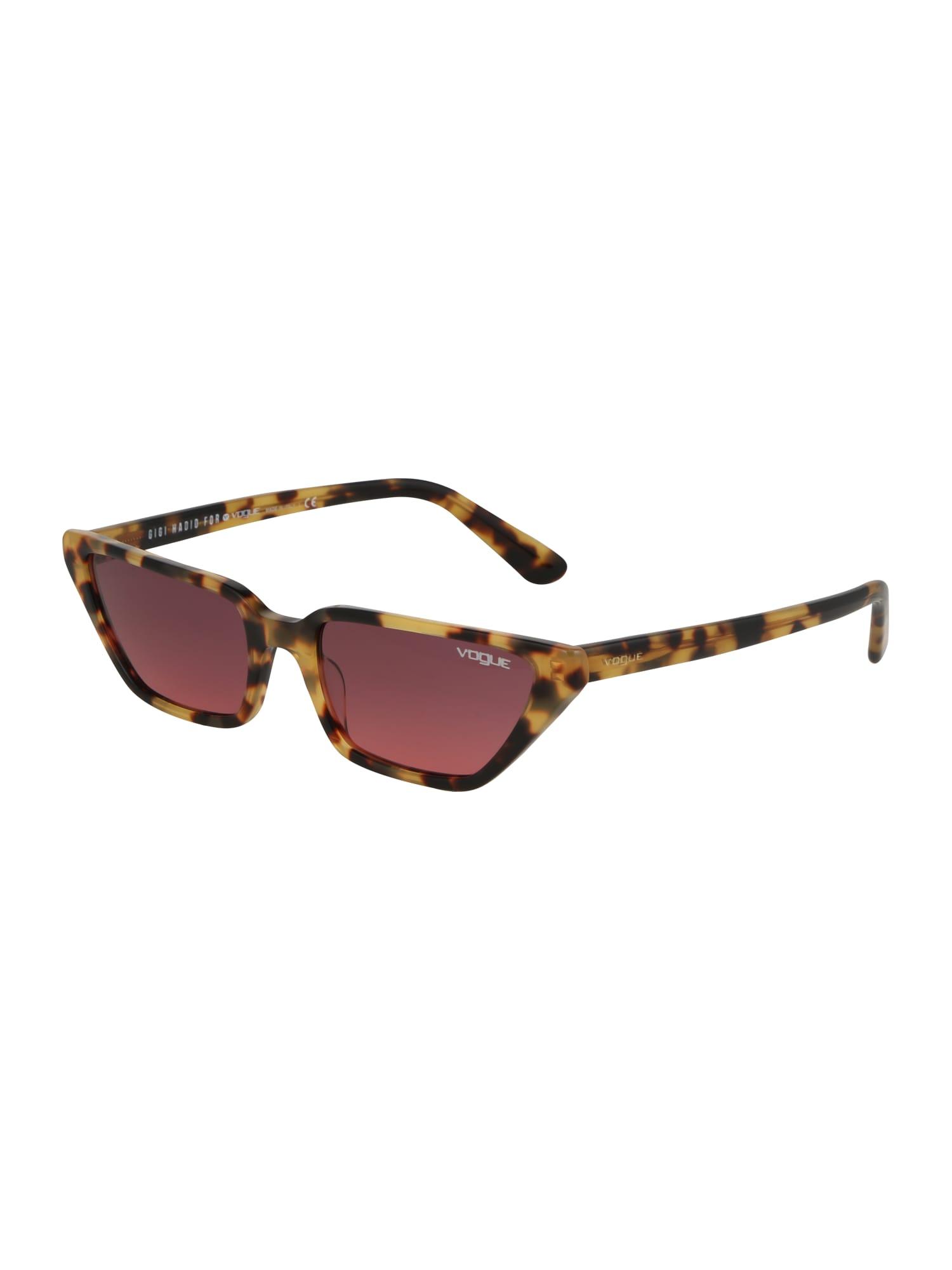 VOGUE Eyewear Akiniai nuo saulės ruda / rožinė