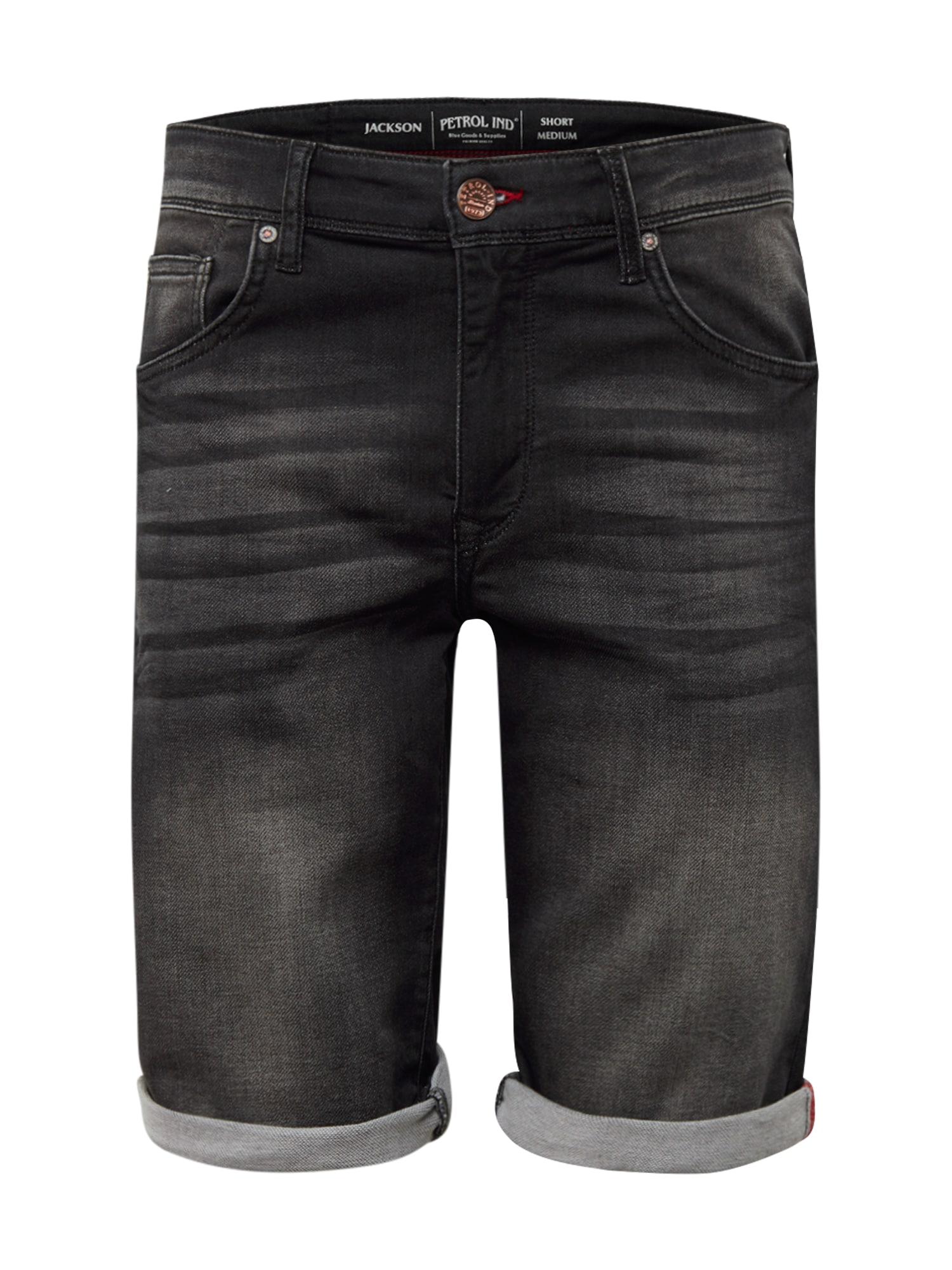 Petrol Industries Džinsai 'Jackson' juodo džinso spalva