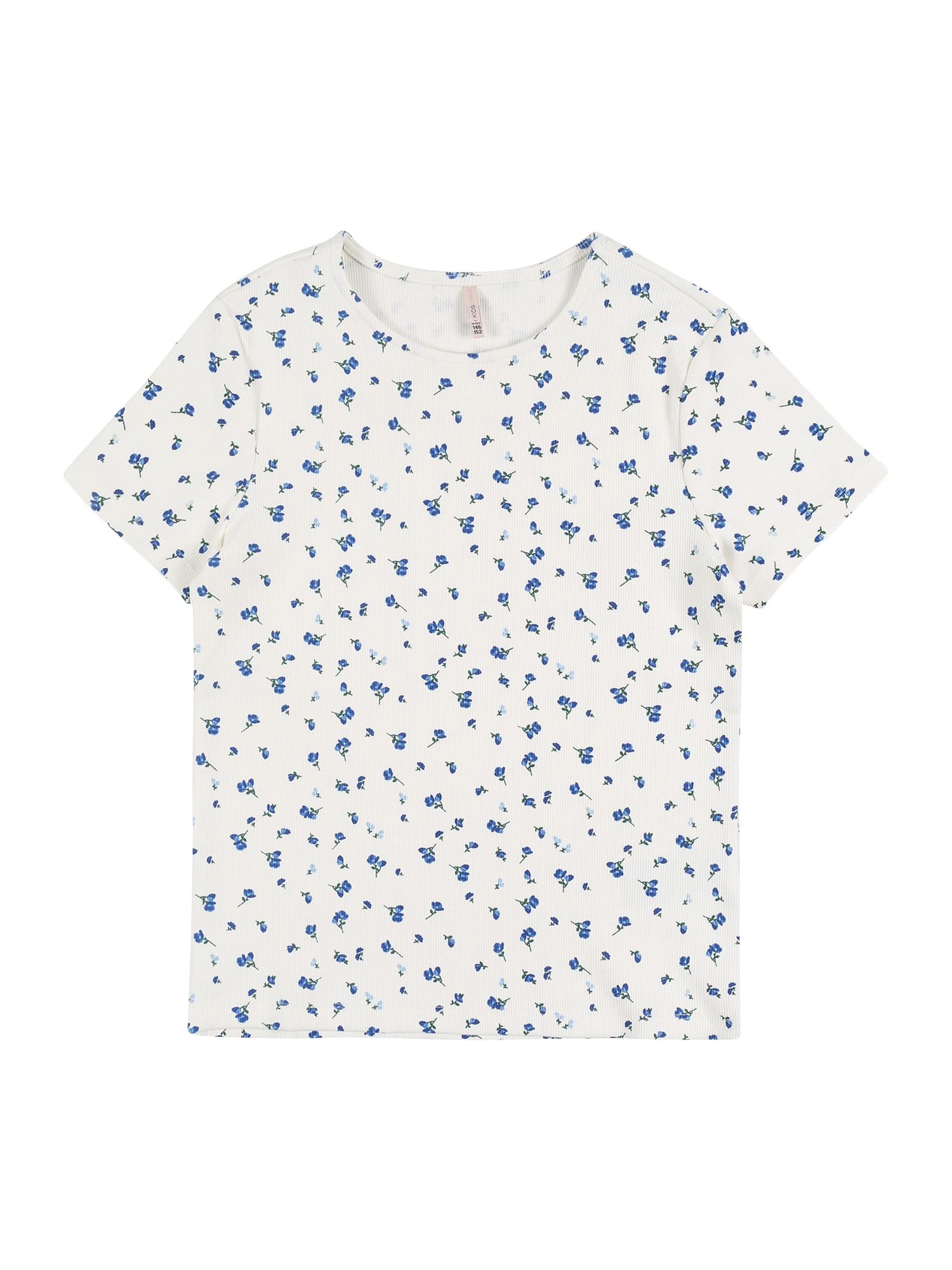 KIDS ONLY Marškinėliai 'KONFENJA' balta / mėlyna
