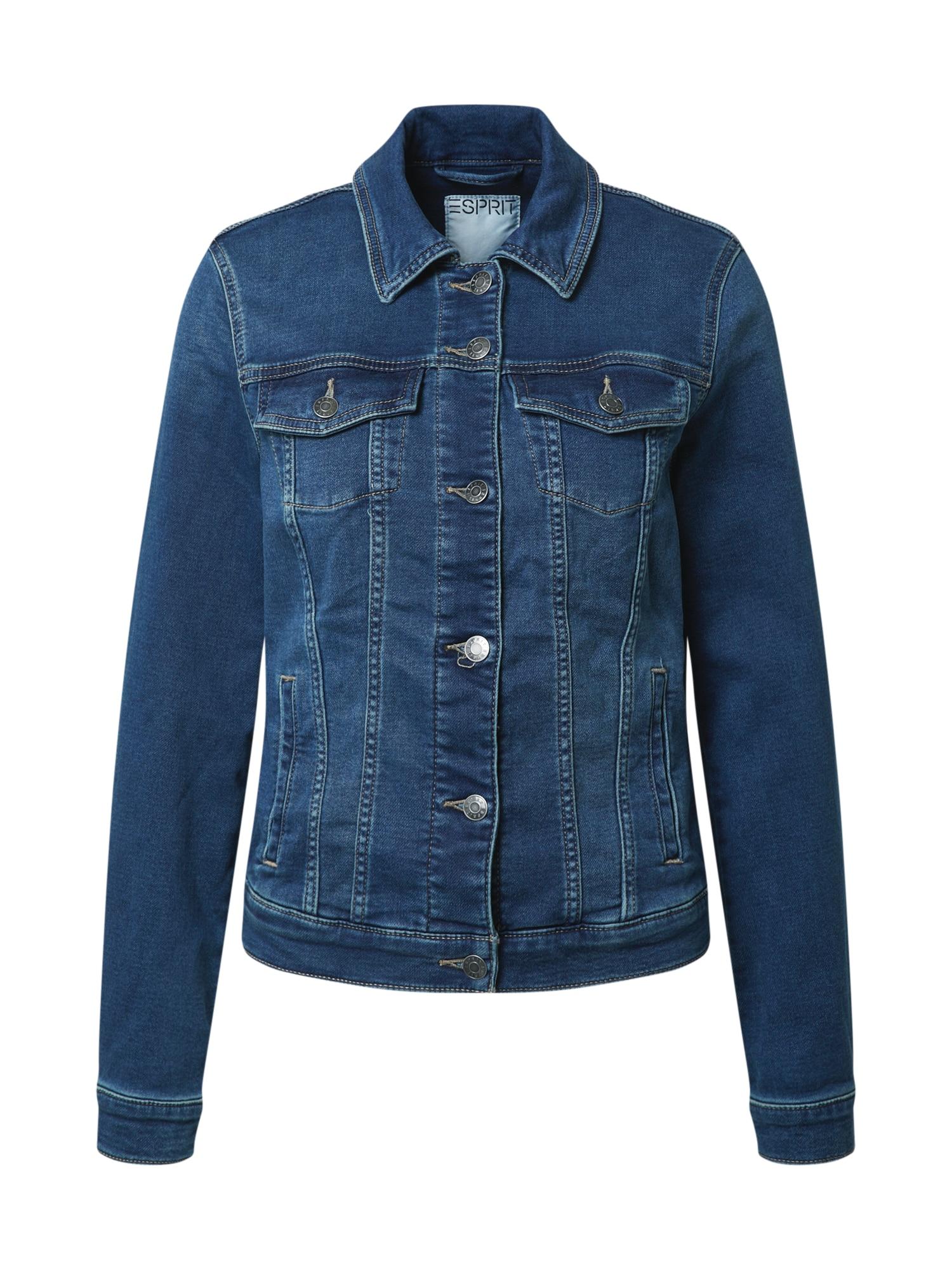 ESPRIT Demisezoninė striukė tamsiai mėlyna / tamsiai (džinso) mėlyna