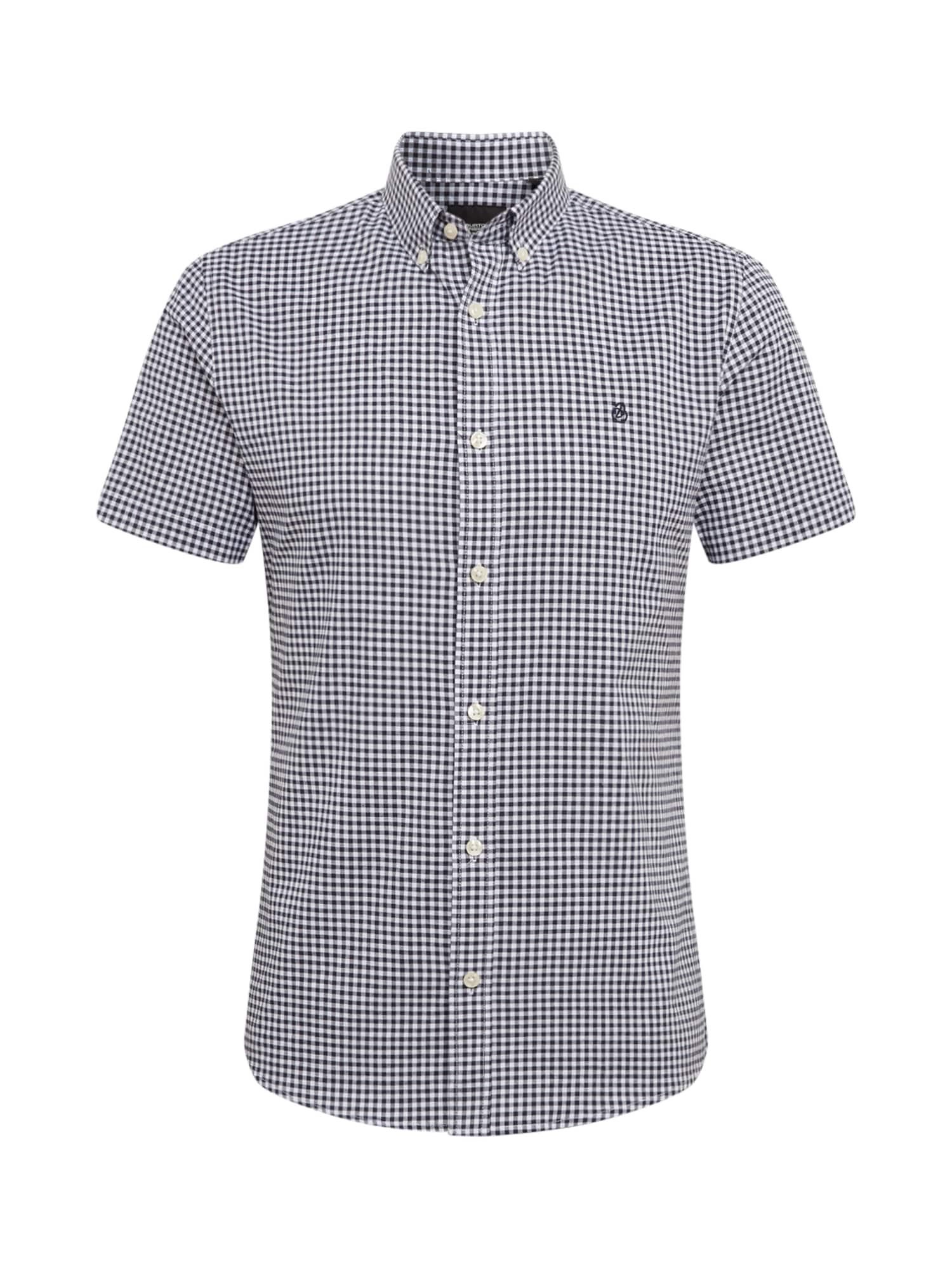 BURTON MENSWEAR LONDON Marškiniai balta / tamsiai mėlyna