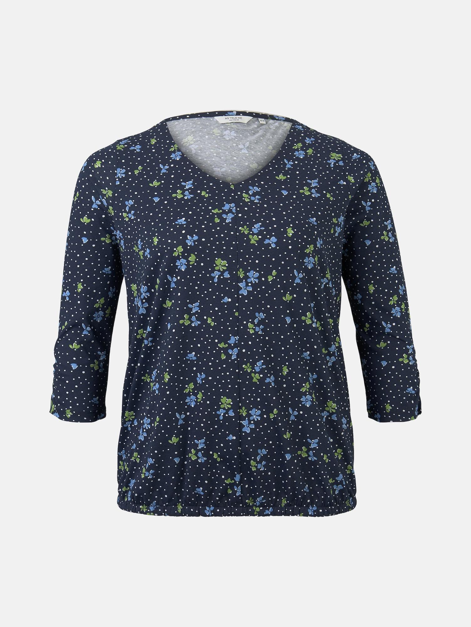 MY TRUE ME Marškinėliai mėlyna / balta / žalia