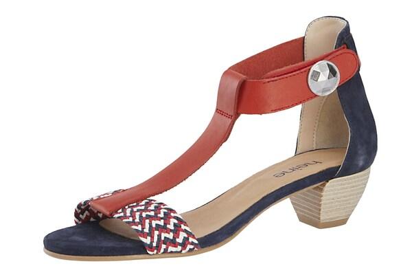 Sandalen für Frauen - Heine Sandalette marine rot  - Onlineshop ABOUT YOU