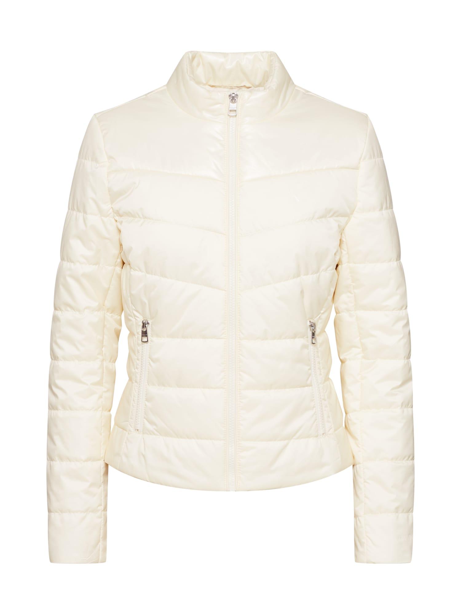 Calvin Klein Jeans Demisezoninė striukė 'PADDED MOTO JACKET' balta