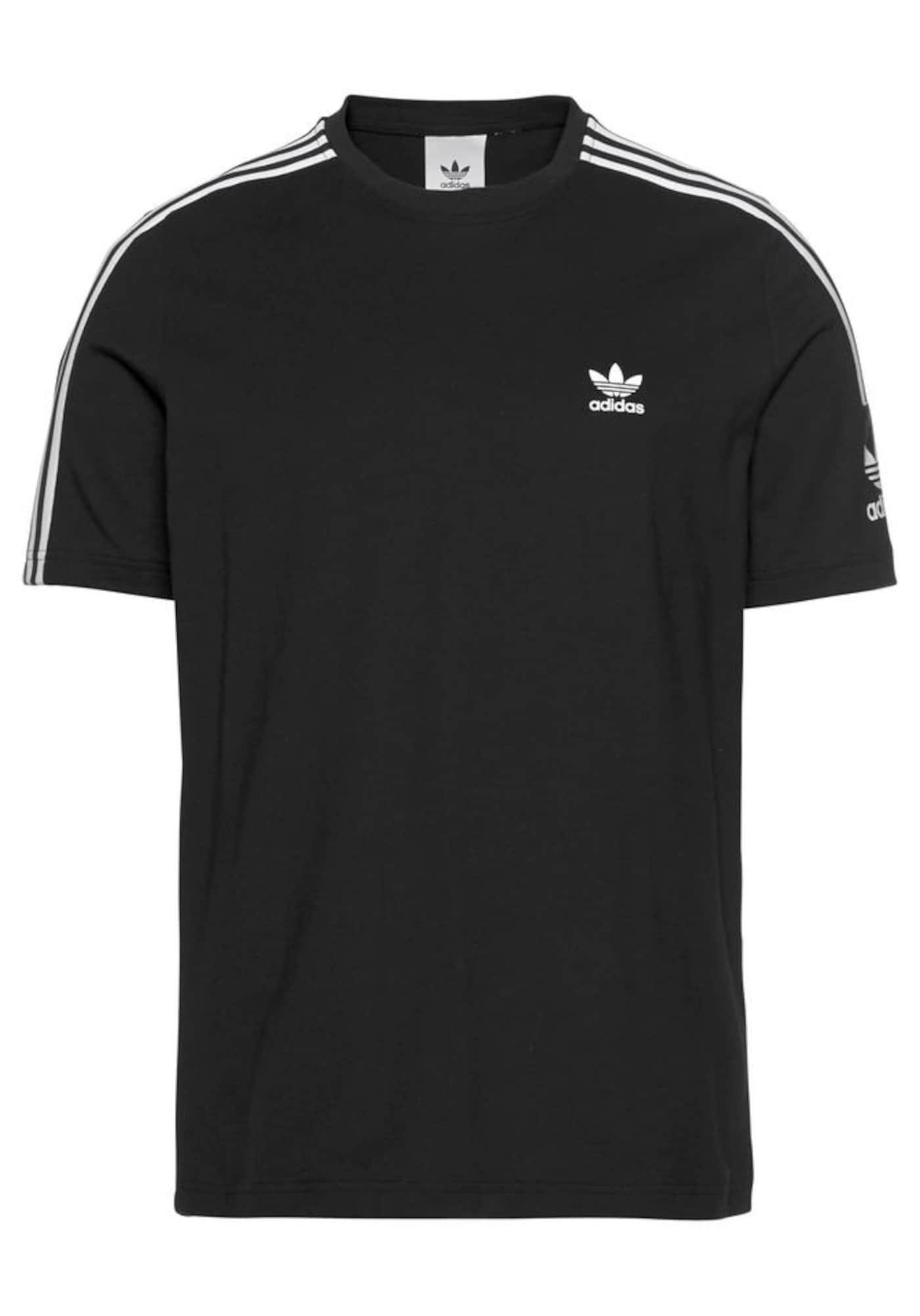 ADIDAS ORIGINALS Marškinėliai 'Lock Up' juoda / balta