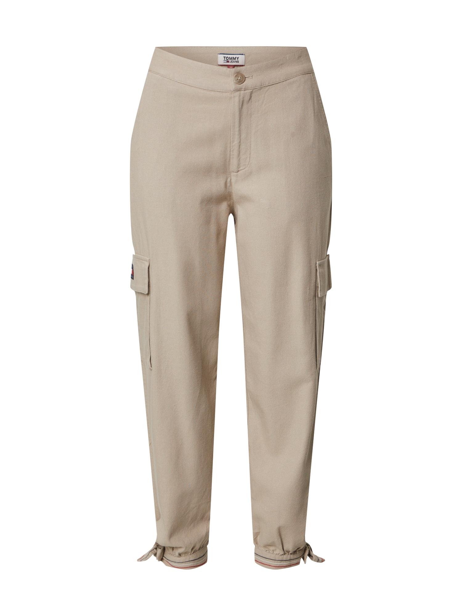 Tommy Jeans Laisvo stiliaus kelnės smėlio