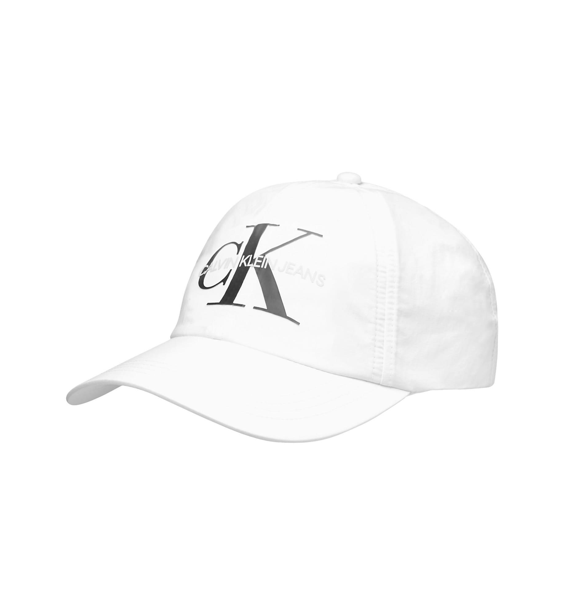 Calvin Klein Jeans Čiapka 'Twill'  biela / čierna