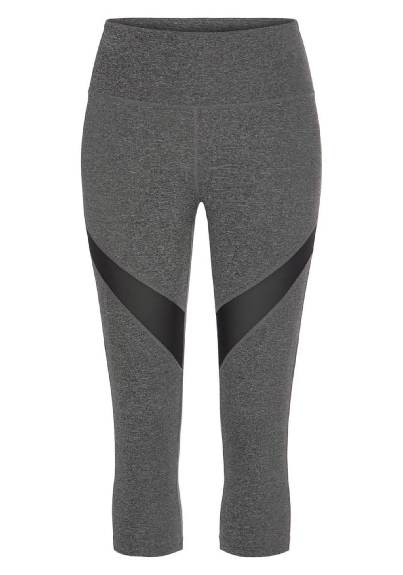LASCANA ACTIVE Sportinės kelnės antracito spalva / juoda