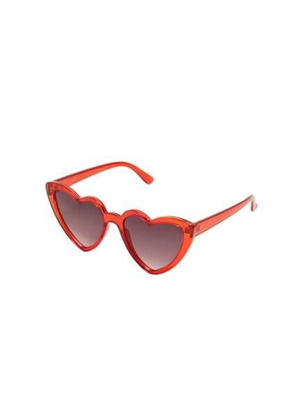 Sonnenbrillen für Frauen - MANGO Sonnenbrille 'Cuore' indigo rot  - Onlineshop ABOUT YOU