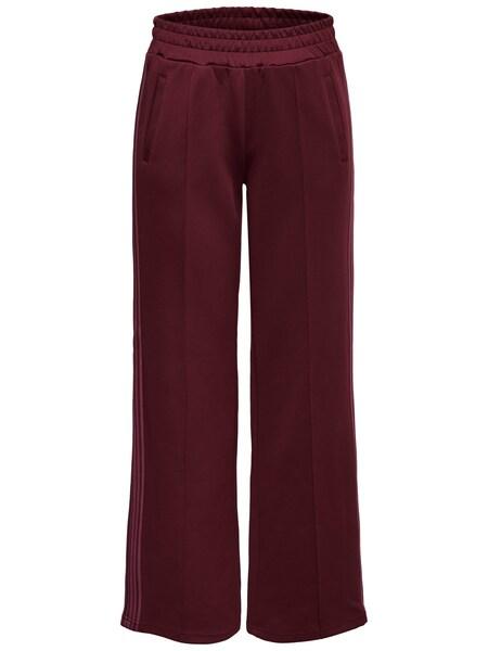 Hosen für Frauen - ONLY Sweathose rosé weinrot  - Onlineshop ABOUT YOU
