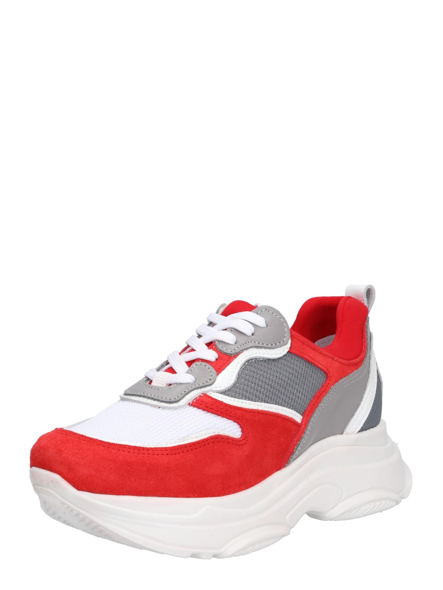 Tenisky šedá červená bílá PS Poelman