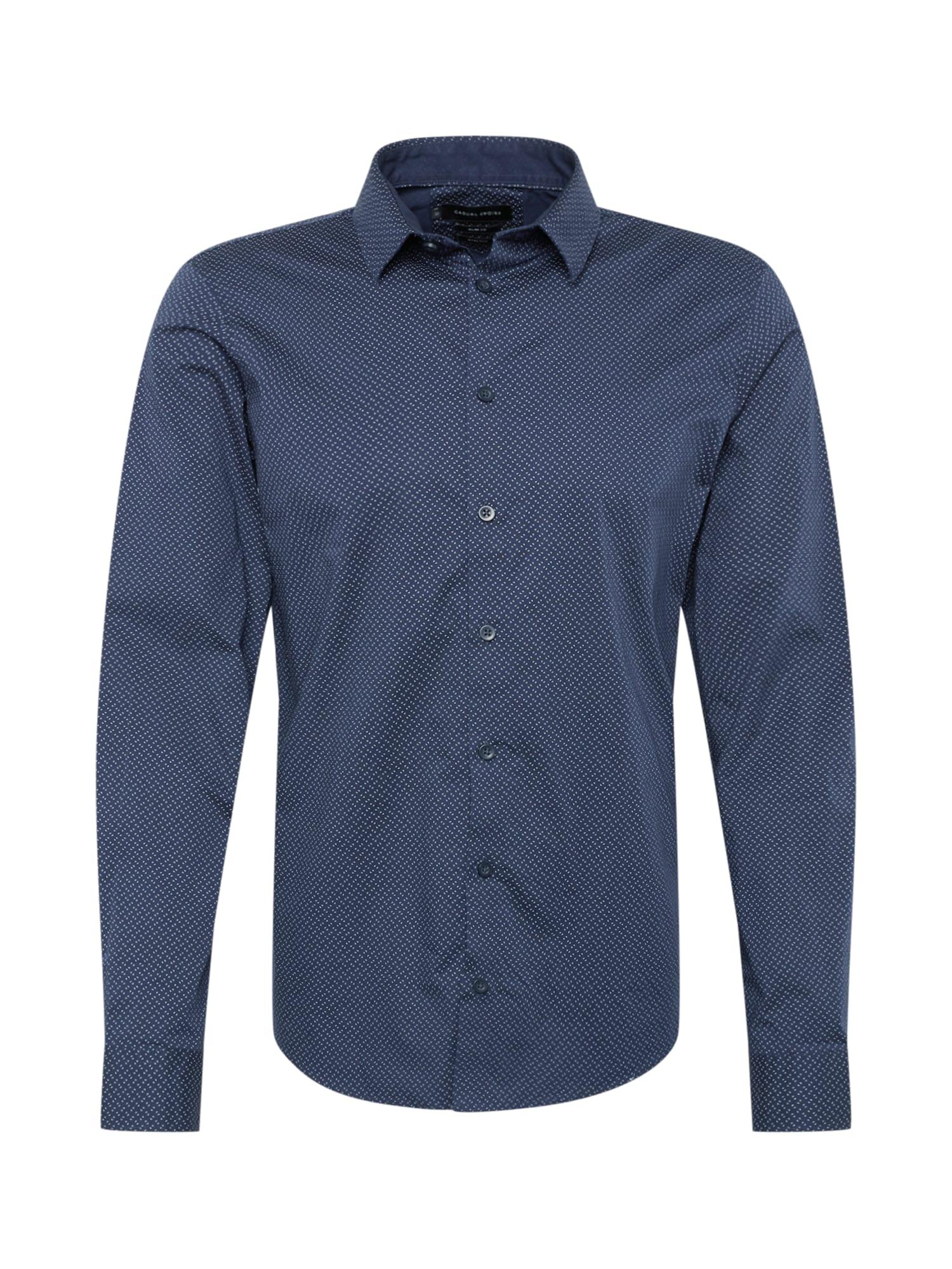 Košile Woven noční modrá Casual Friday