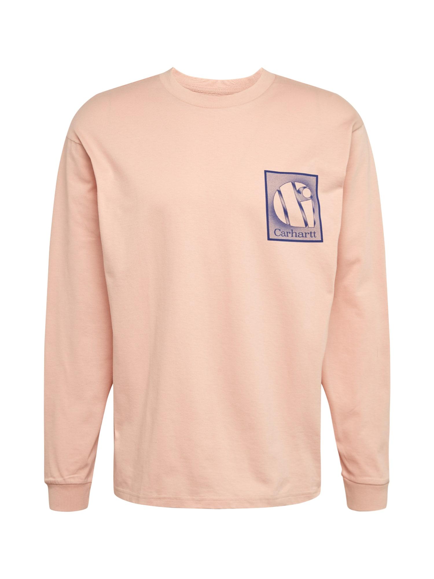 Carhartt WIP Marškinėliai mėlyna / rožių spalva / smėlio