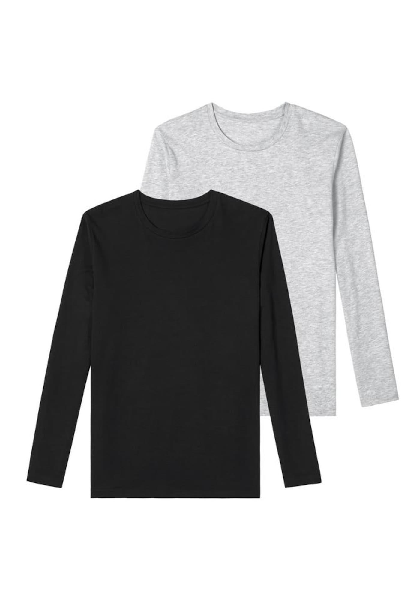 BRUNO BANANI Marškinėliai pilka / juoda