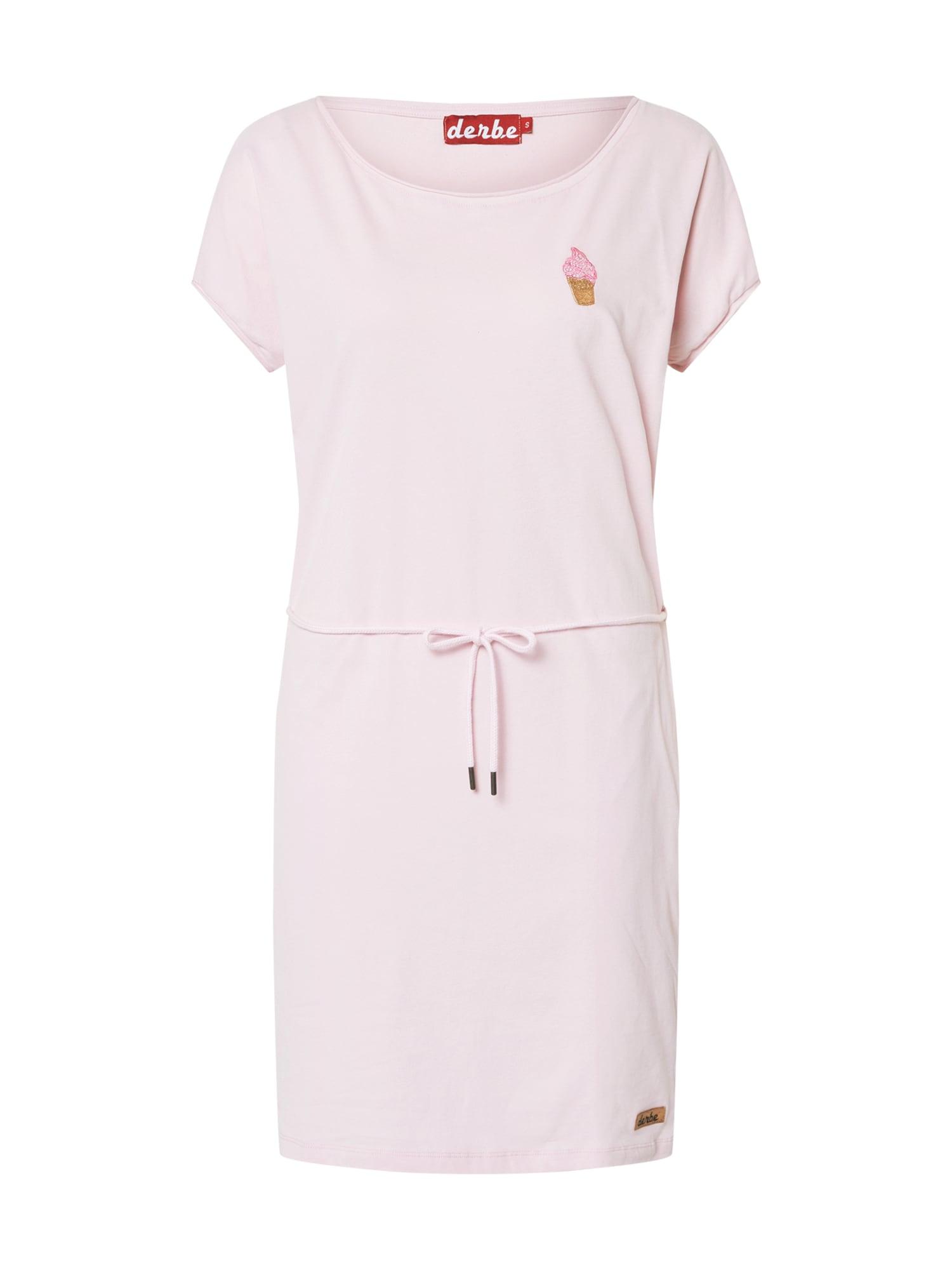Derbe Suknelė 'Soft Ice' šviesiai ruda / rožinė / rožinė