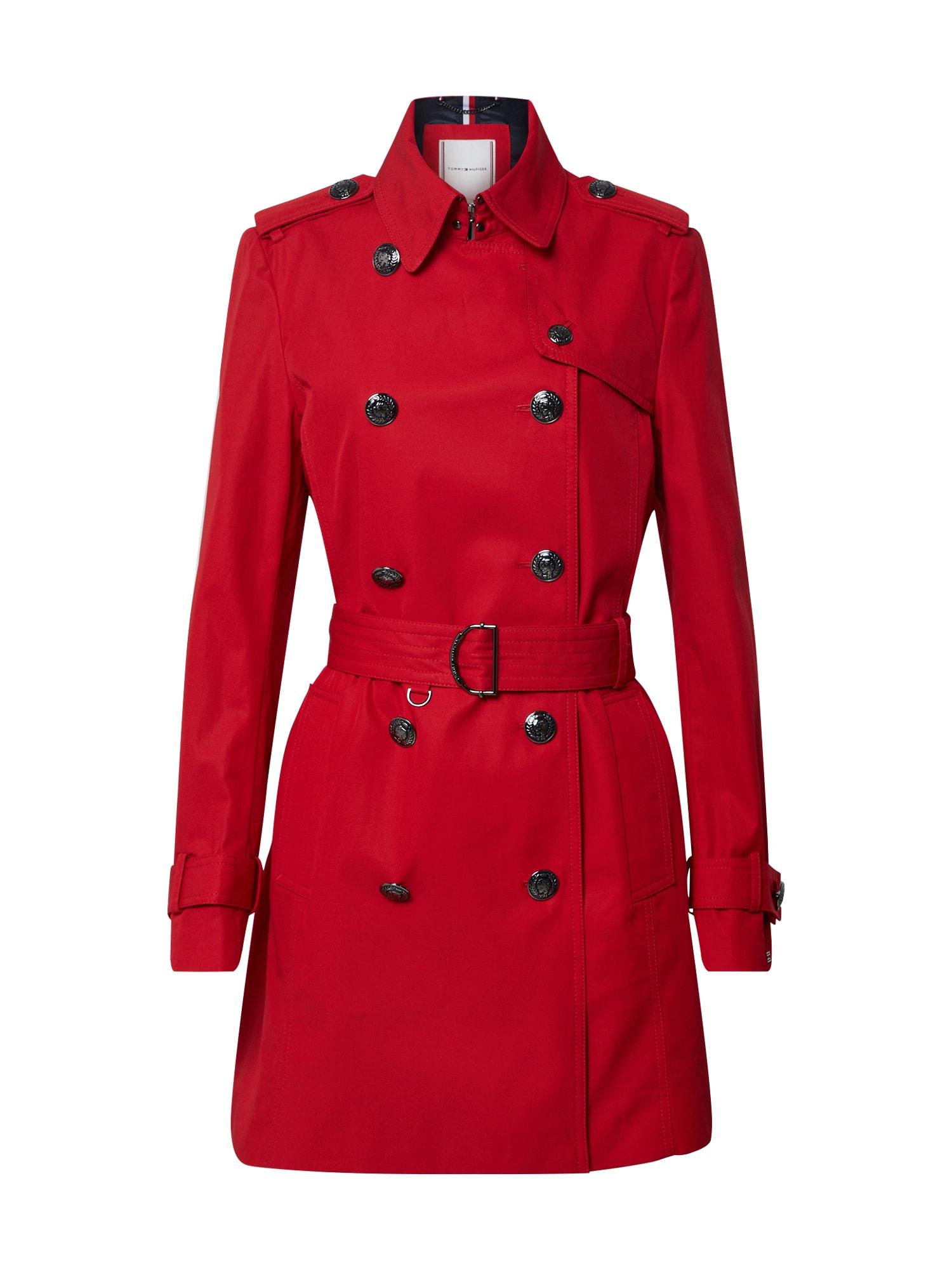 TOMMY HILFIGER Rudeninis-žieminis paltas raudona