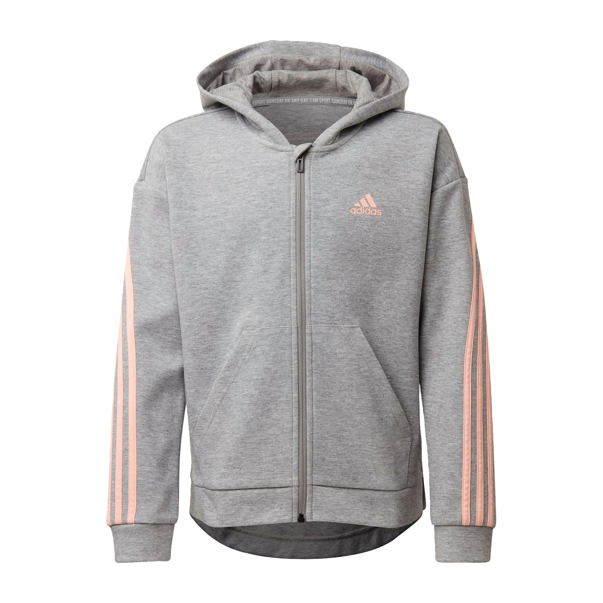 ADIDAS PERFORMANCE Sportinis džemperis pastelinė oranžinė / margai pilka