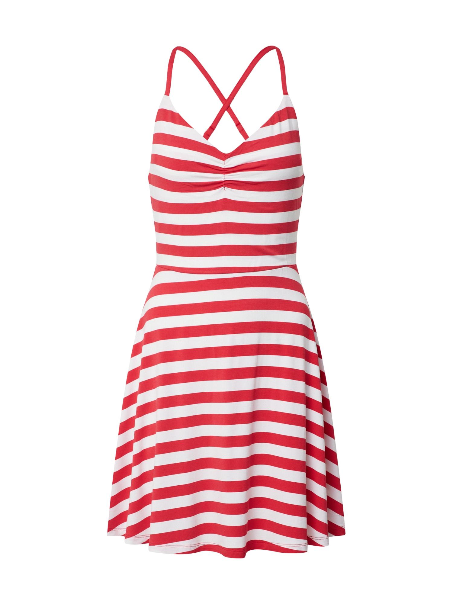 UNITED COLORS OF BENETTON Letné šaty  červené / biela