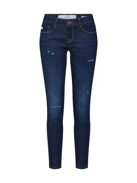 Hosen - Jeans 'JUNGBUSCH' › Goldgarn › blau rot  - Onlineshop ABOUT YOU