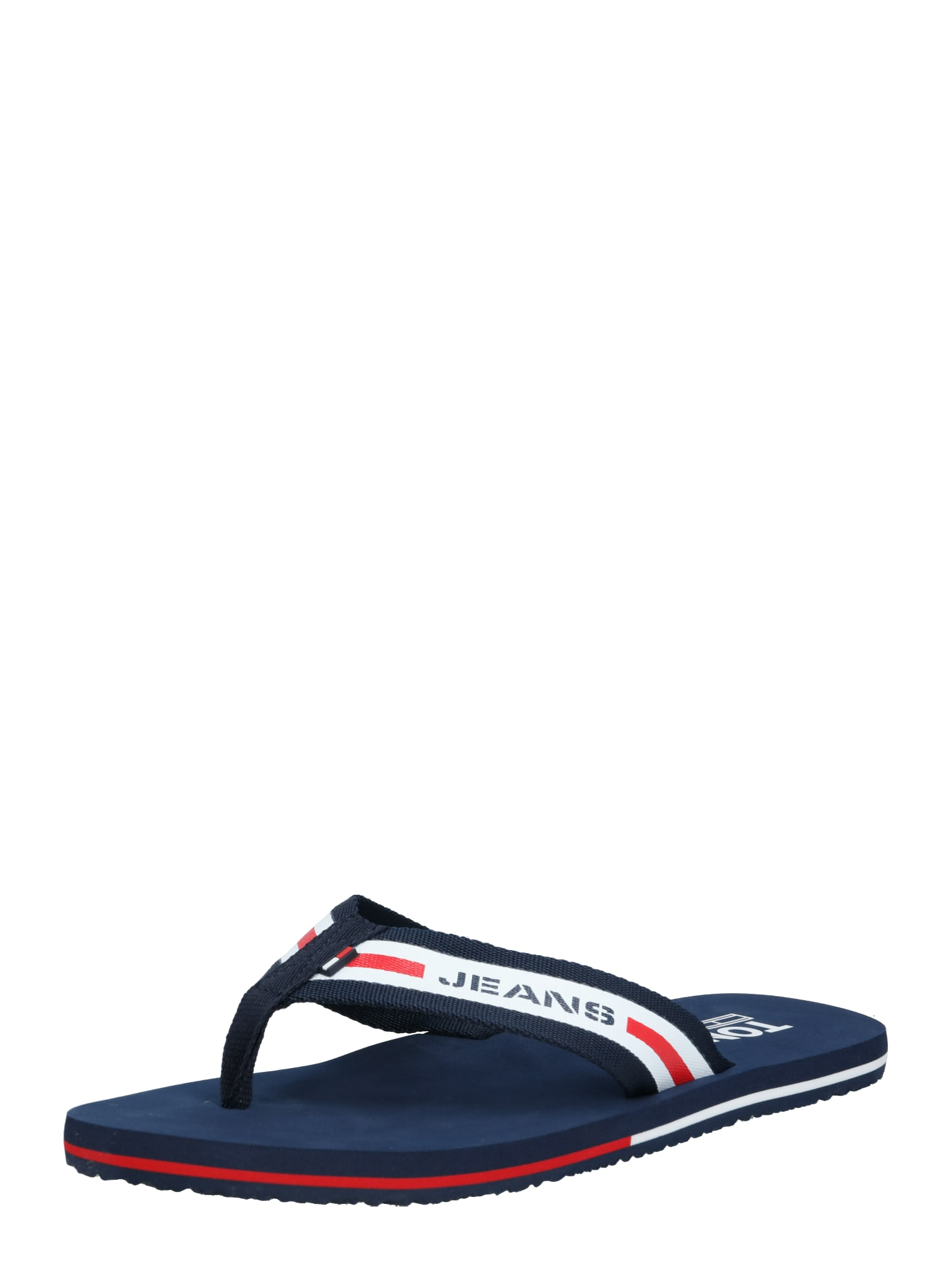 Tommy Jeans Šlepetės per pirštą raudona / balta / tamsiai mėlyna