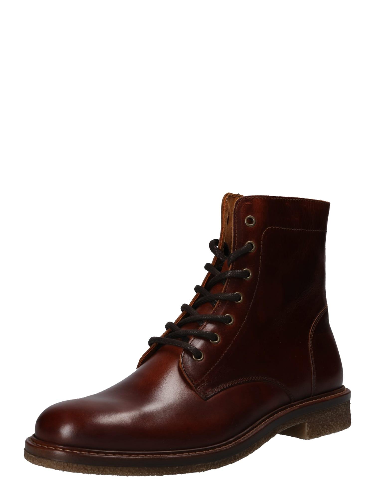 Šněrovací boty tmavě hnědá Zign