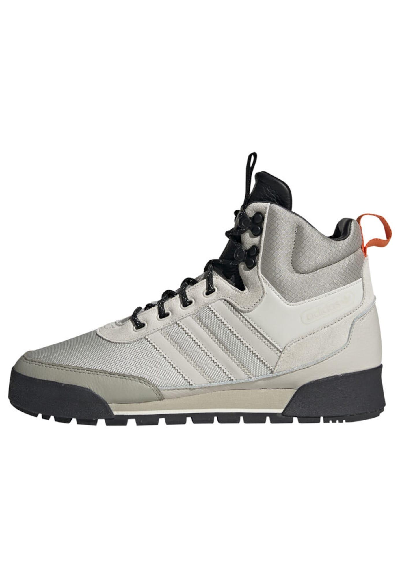 ADIDAS ORIGINALS Auliniai batai su raišteliais 'BAARA BOOTS' pilka