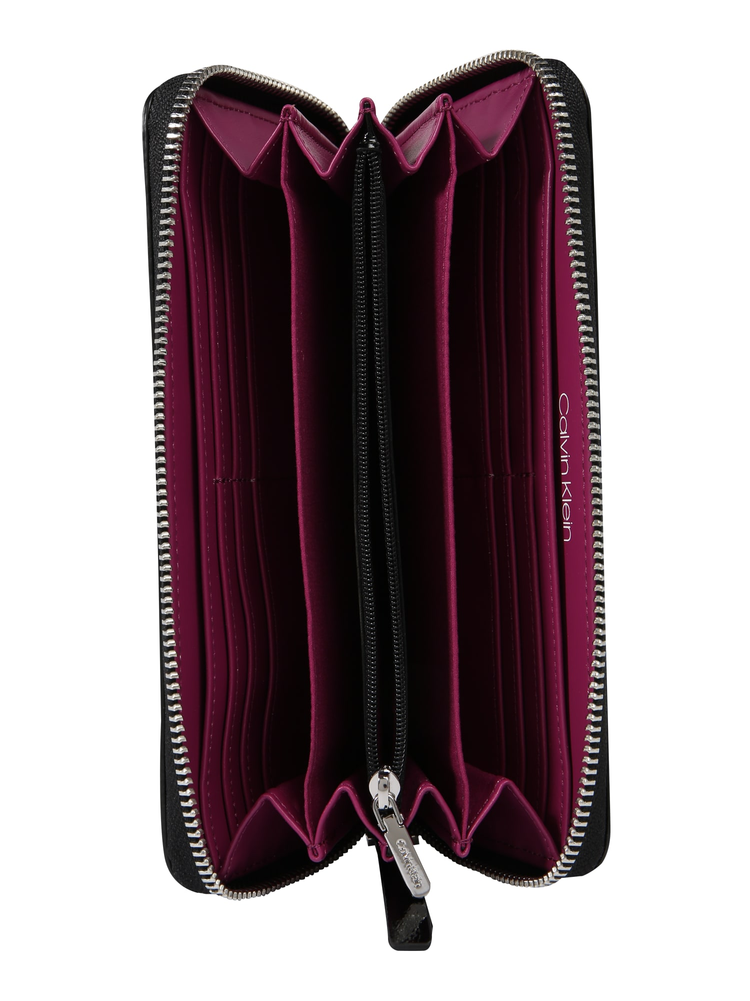 Portemonnee Klein Dames.Calvin Klein Dames Portemonnee Edged Large Ziparound S Zwart