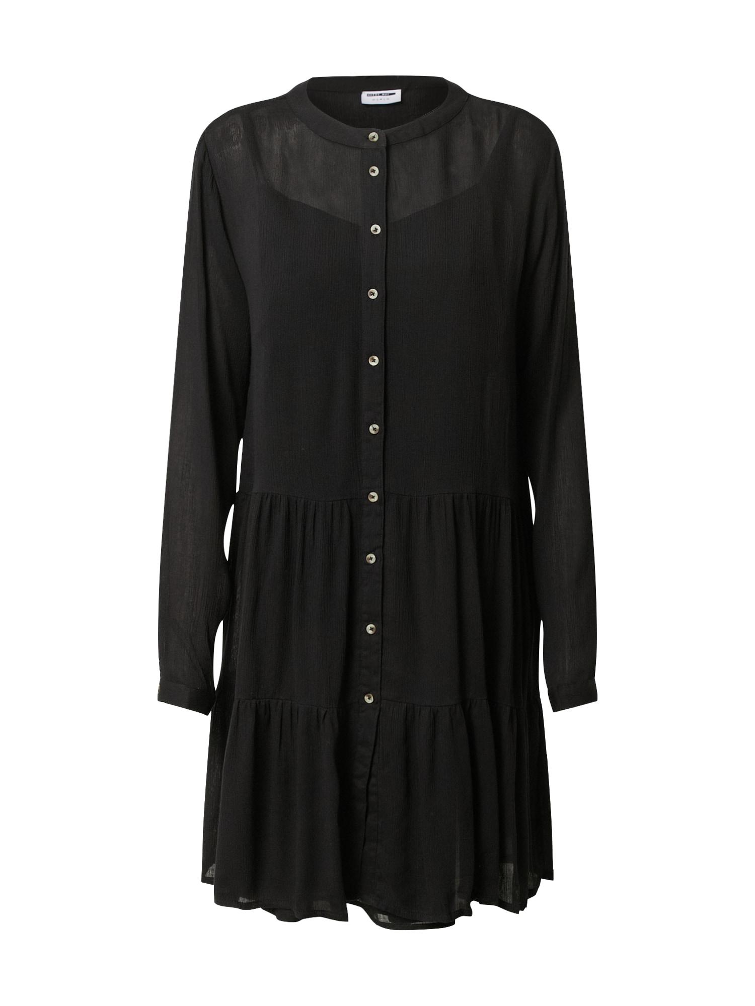 Noisy may Košeľové šaty 'NMFLEUR'  čierna