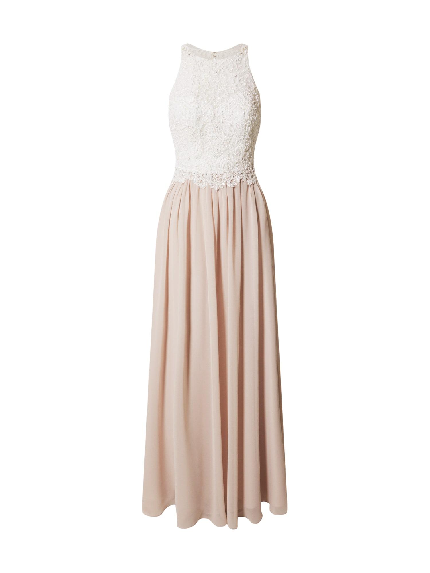 Laona Vakarinė suknelė rožių spalva / balta