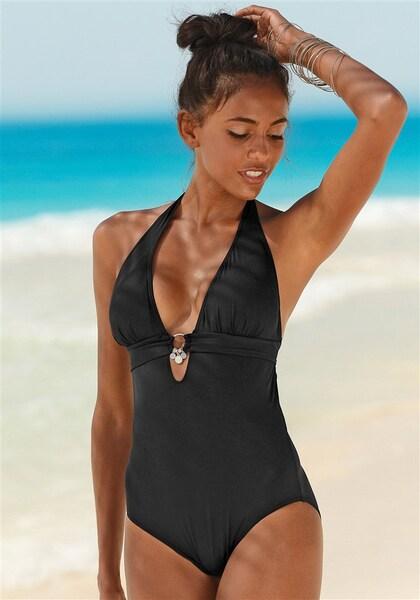 Bademode für Frauen - S.Oliver RED LABEL Badeanzug schwarz  - Onlineshop ABOUT YOU