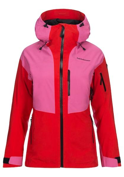 Jacken für Frauen - PEAK PERFORMANCE Outdoorjacke 'Grav2 L' dunkelpink hellrot schwarz  - Onlineshop ABOUT YOU