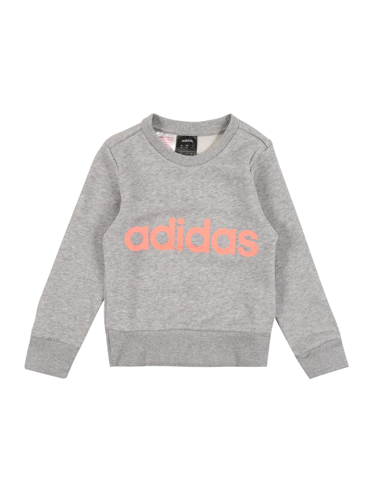ADIDAS PERFORMANCE Sportinio tipo megztinis 'YG E Lin Sweat' pilka