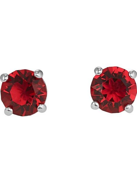 Ohrringe für Frauen - Ohrhänger 'Attract' › Swarovski › rot silber  - Onlineshop ABOUT YOU