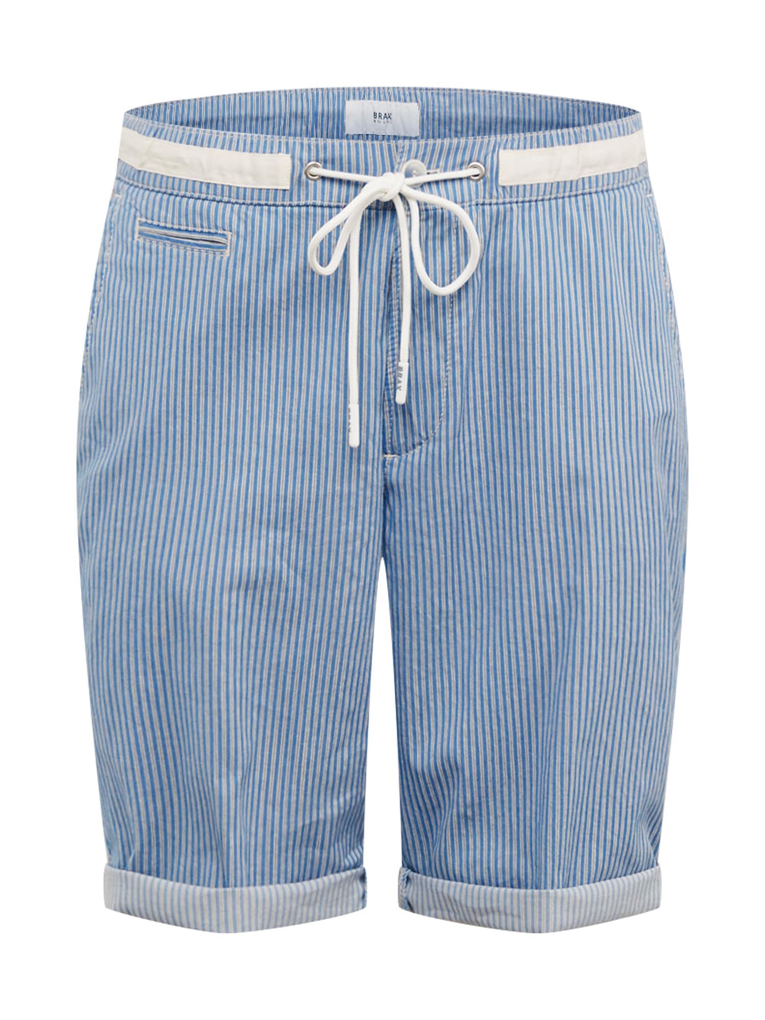 BRAX Kelnės 'STYLE.BIAGGIO ' balta / šviesiai mėlyna