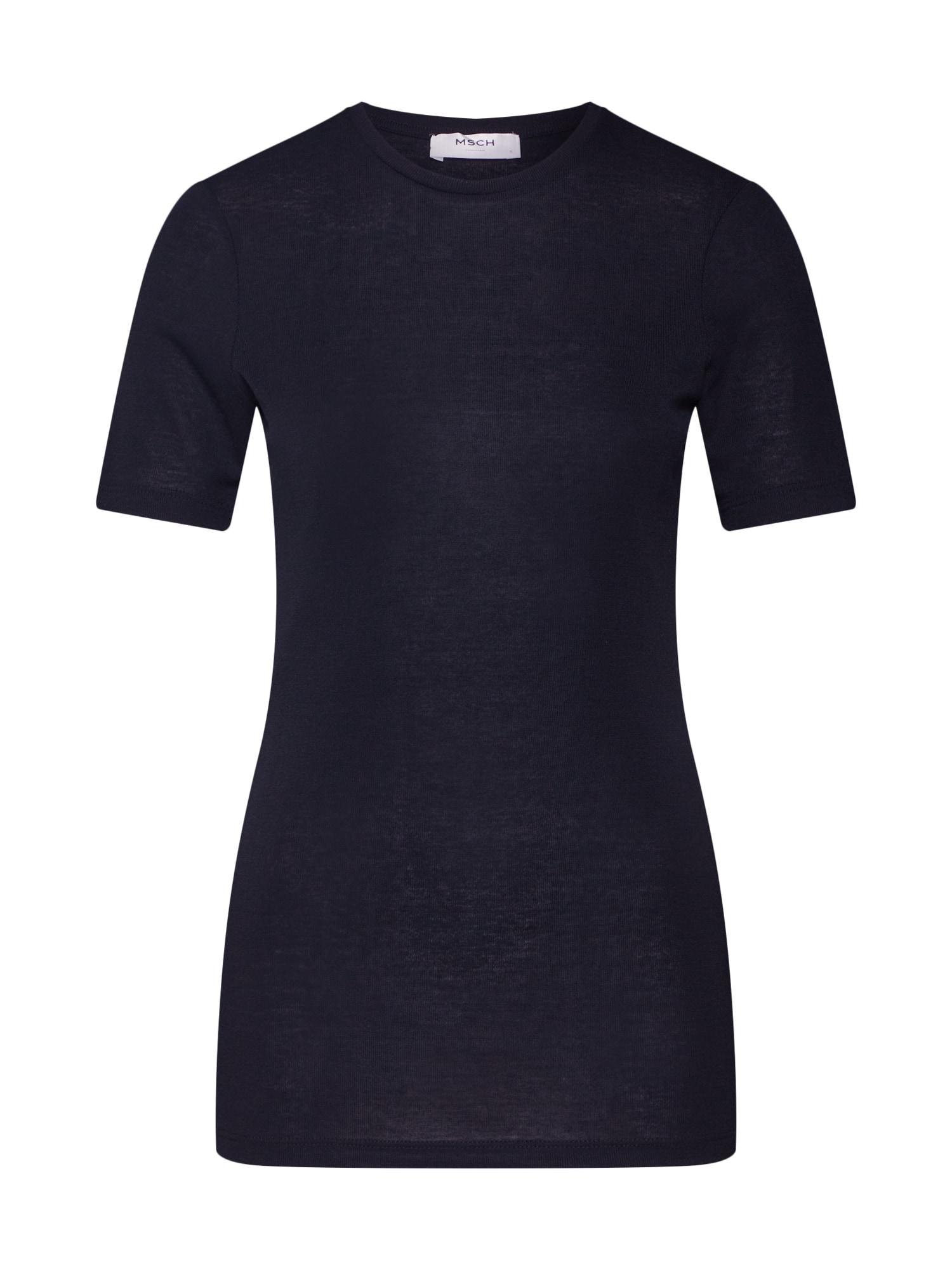 MOSS COPENHAGEN Marškinėliai 'Mona' juoda