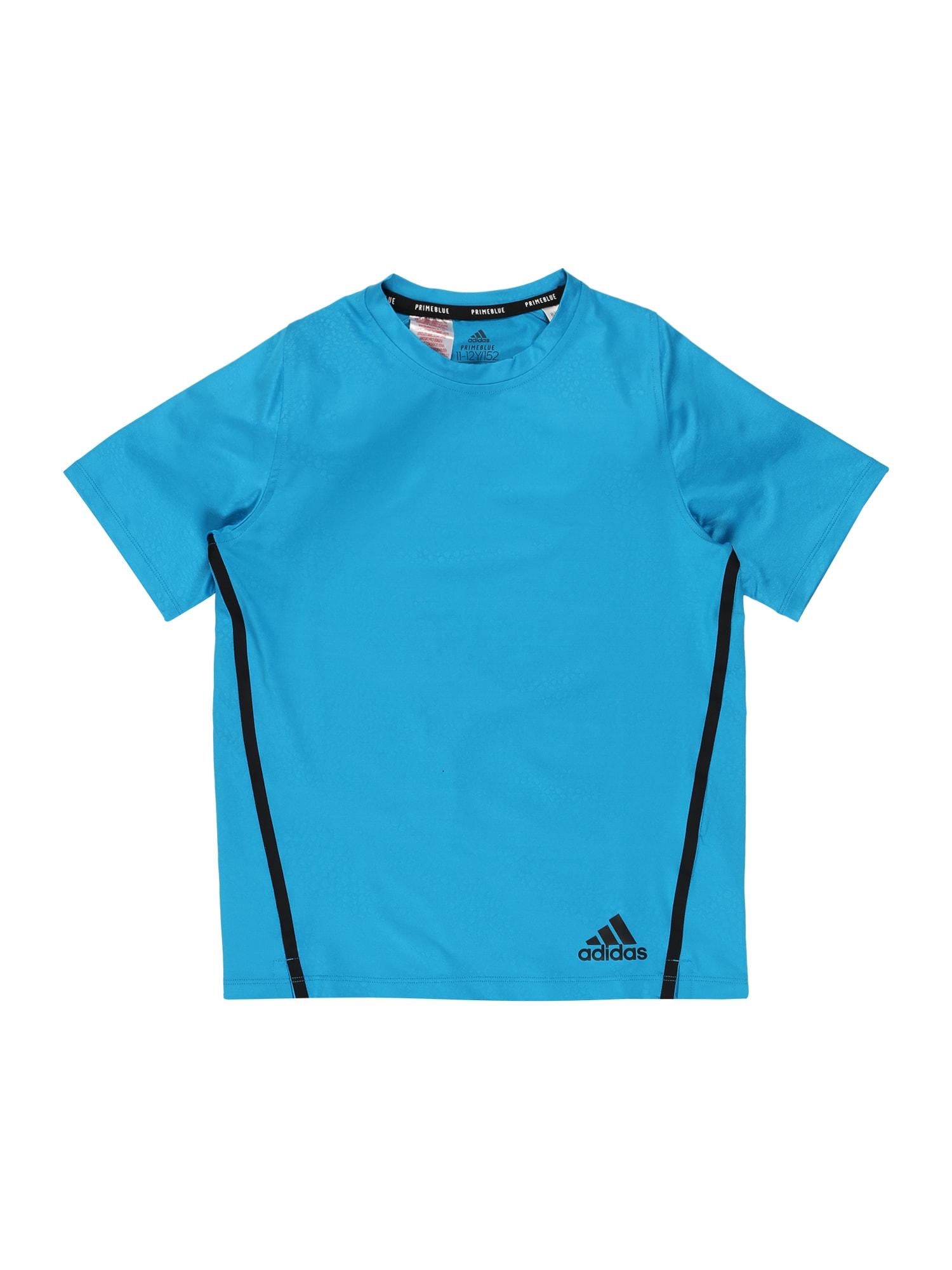 ADIDAS PERFORMANCE Funkčné tričko 'Primeblue'  nebesky modrá / tmavomodrá