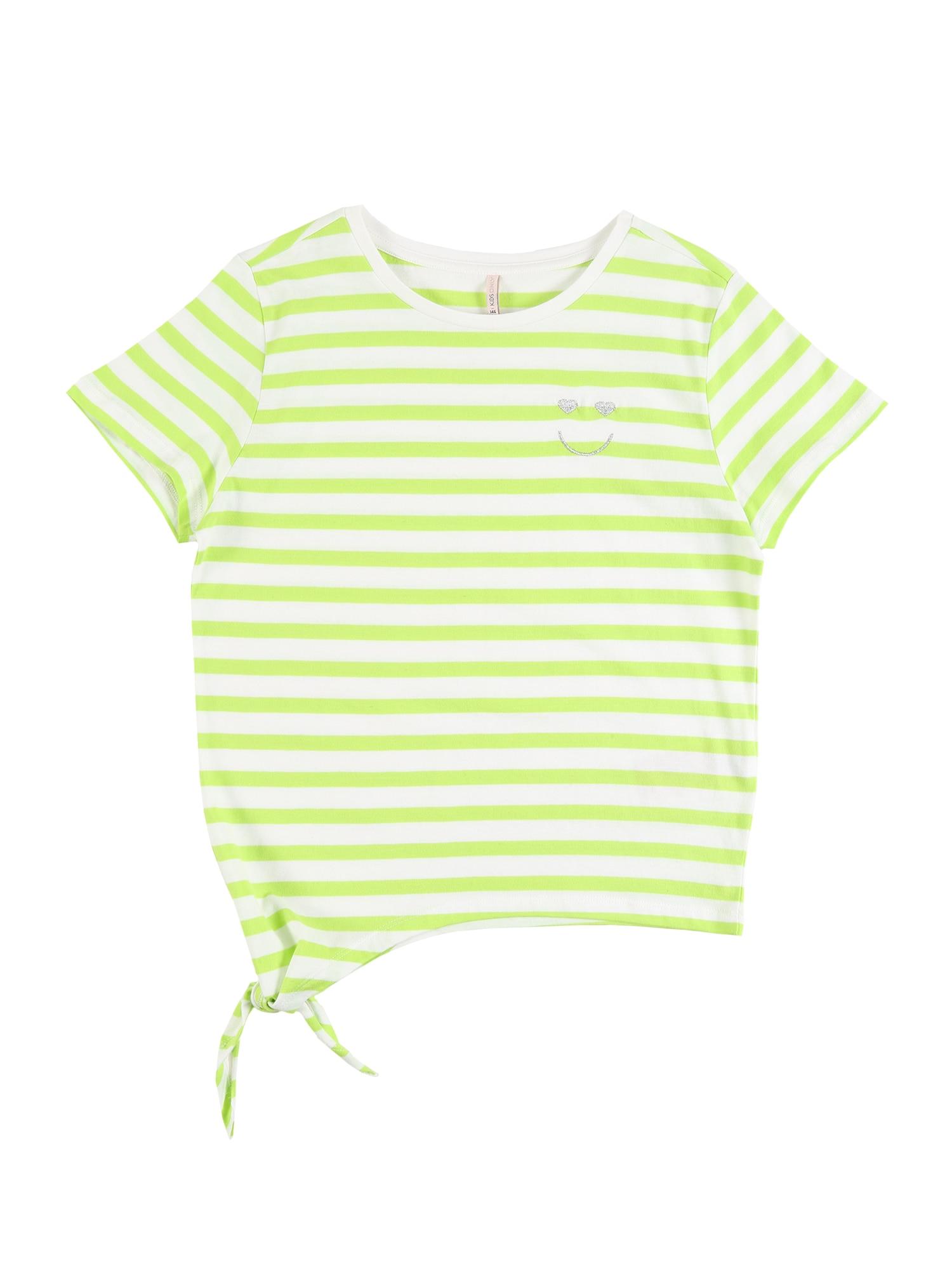 KIDS ONLY Marškinėliai 'KONBRAVE LIFE S/S KNOT TOP JRS' žaliosios citrinos spalva