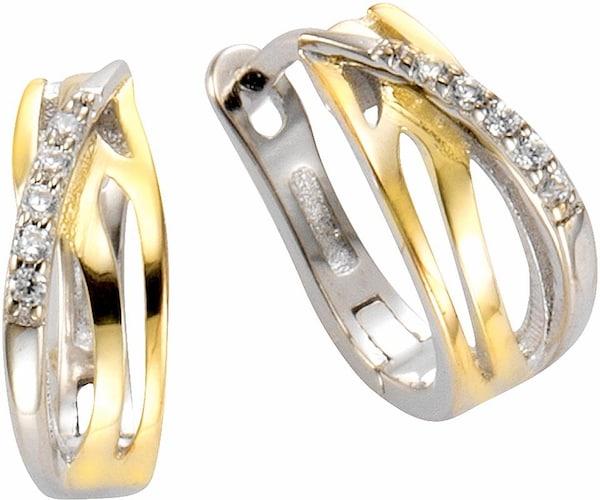 Ohrringe für Frauen - FIRETTI Paar Creolen gold silber  - Onlineshop ABOUT YOU