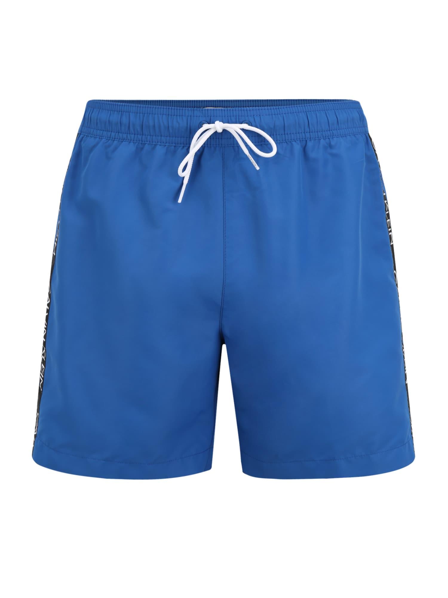 Calvin Klein Swimwear Maudymosi trumpikės ' Medium Drawstring ' mėlyna
