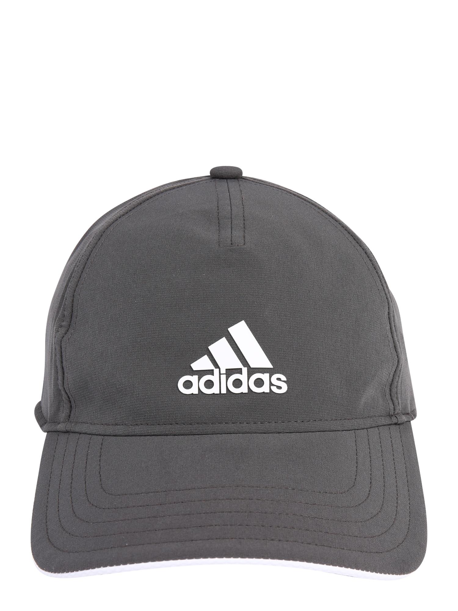 ADIDAS PERFORMANCE Sportinė kepurė tamsiai pilka / balta
