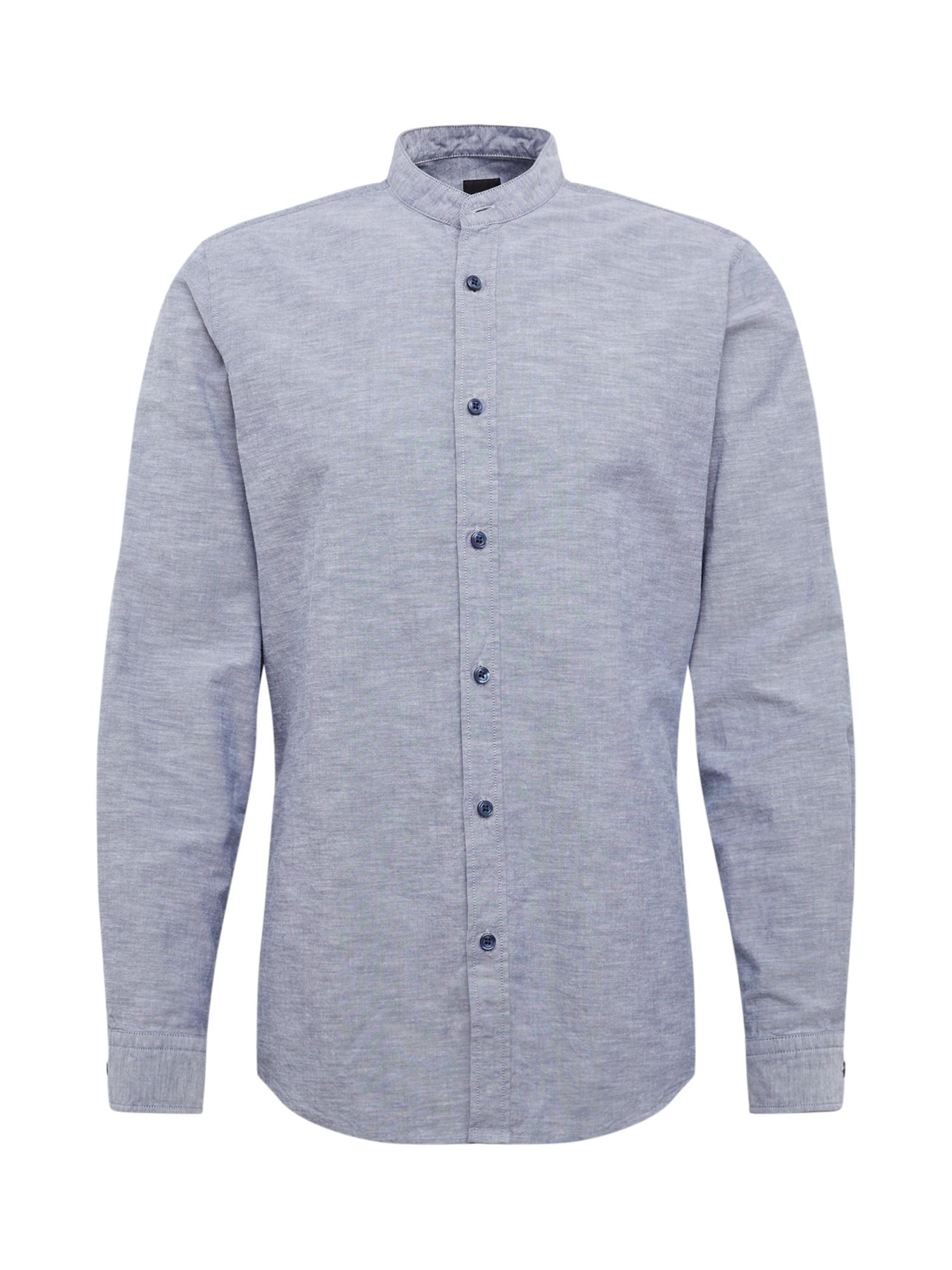BOSS Marškiniai mėlyna dūmų spalva