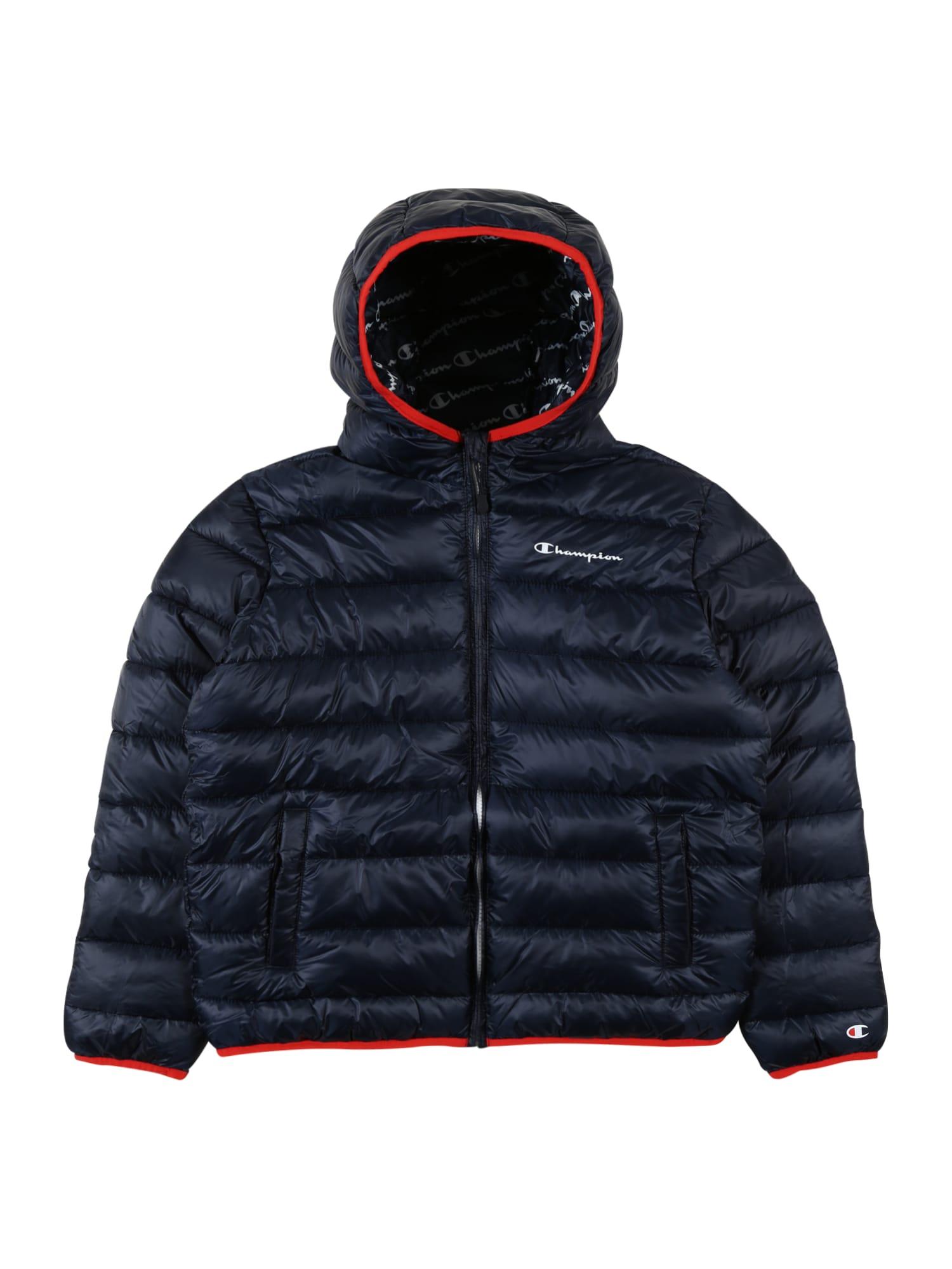 Champion Authentic Athletic Apparel Žieminė striukė tamsiai mėlyna / raudona / balta