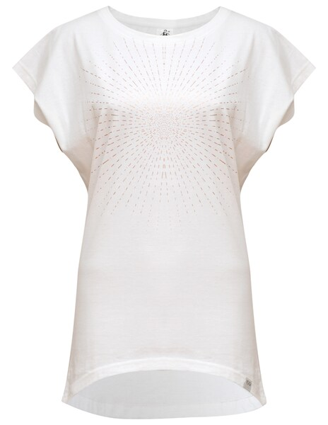 Sportmode - T shirt 'Batwing Sunray' › YOGISTAR.COM › silber weiß  - Onlineshop ABOUT YOU