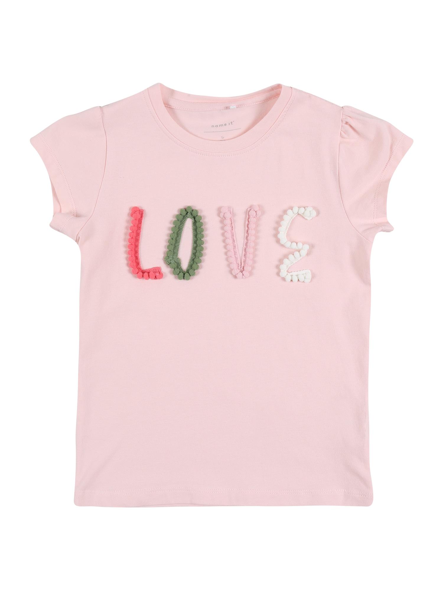 NAME IT Marškinėliai 'NMFHALOVE SS TOP' rožių spalva