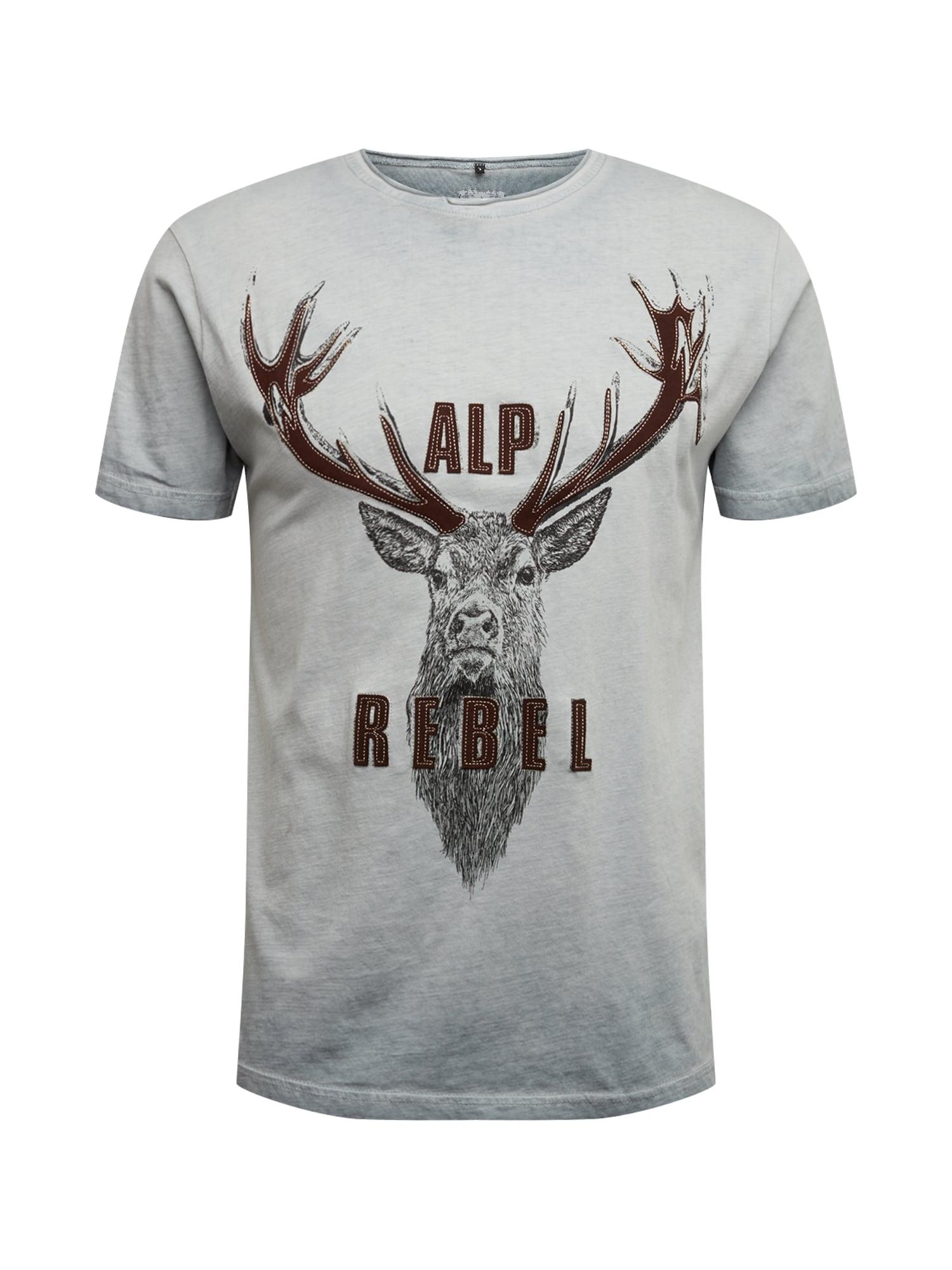 MARJO Raštuoti marškinėliai '016 L28 Benno Shirt' pilka