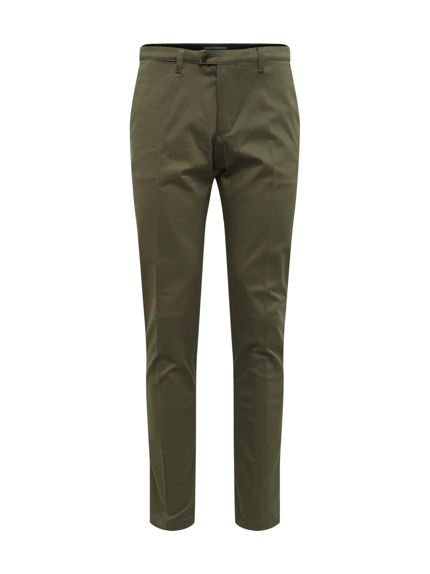 Kalhoty s puky KILL tmavě zelená DRYKORN