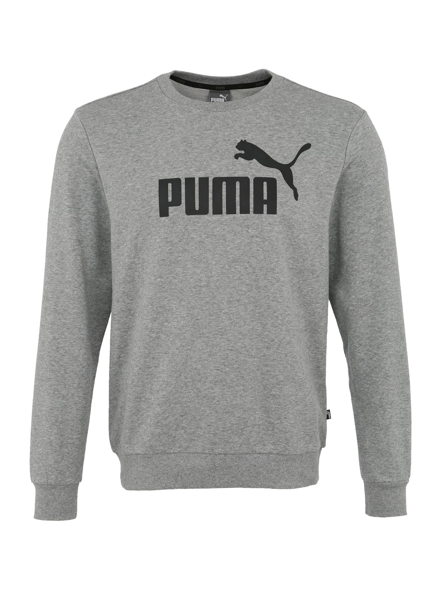 PUMA Sportinio tipo megztinis 'Ess' juoda / pilka